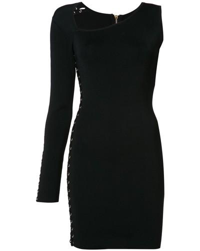 Asymmetrisches Kleid mit Schnürung