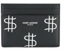 Classic Paris dollar print cardholder
