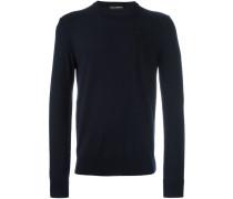 Pullover mit Rosenstickerei - men - Schurwolle