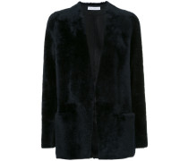 shearling open front jacket