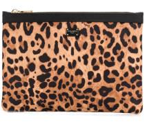 Kosmetiktasche mit Leoparden-Print
