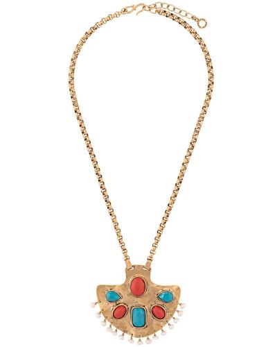 'Byzance' Halskette mit Schmucksteinen