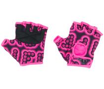 printed fingerless gloves