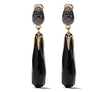 18kt rose gold Victoria jet and  diamond earrings