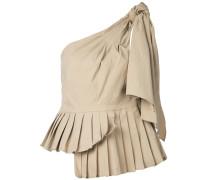 Asymmetrische Bluse mit Falten