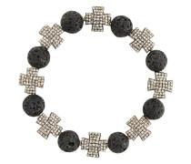 Armband mit Silberanhängern und grauen Diamanten
