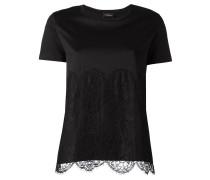 T-Shirt mit Spitzebesatz - women - Baumwolle
