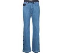 Bootcut-Jeans mit seitlichen Knöpfen