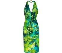 Neckholder-Kleid mit Jungle-Print