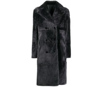 fitted double-breasted coat