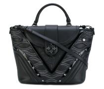 contrast texture satchel - women
