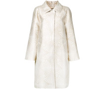 Mantel mit Metallic-Muster
