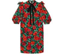 Poppy snake jacquard dress - women - Seide - 46
