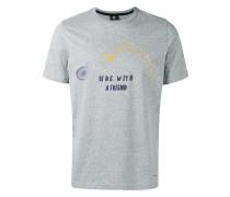 T-Shirt mit Fahrrad-Print