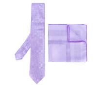 - embroidered tie set - men - Seide