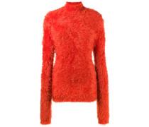 high neck chenille sweater