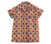 Gepunktetes Hemd mit Karomuster