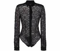 long-sleeve lace bodysuit