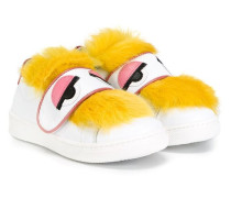 'Bag Bugs' Sneakers mit Kaninchenpelzbesatz