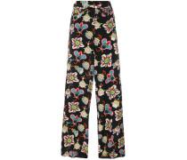 Popflowers high waist palazzo pants