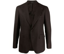 single-breasted virgin wool blazer