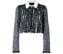 Tweed-Jacke mit kurzem Schnitt