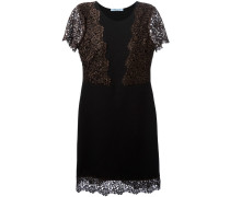lace inserts flared dress