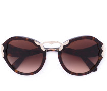 - tortoiseshell oversized sunglasses - women