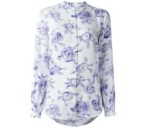 Seidenhemd mit Rosen-Print - women - Seide - M
