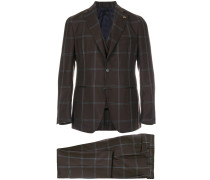stitched check suit
