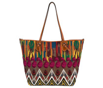 embroidered detail tote