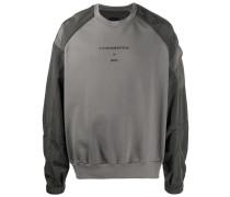 'Fundamental' Sweatshirt mit Satineinsätzen