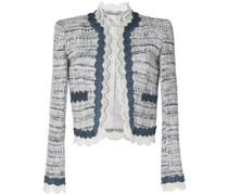 Tweed-Jacke mit Spitze