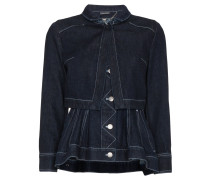 Layered denim jacket with peplum