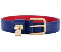 - padlock buckle belt - women - Kalbsleder - 75