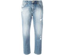 Cropped-Jeans in Distressed-Optik - women