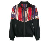 Oversized-Jacke im Materialmix