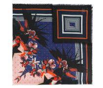 Schal mit Blumen-Print - women