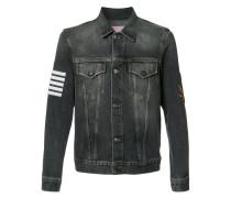 Jeansjacke mit Streifen-Print