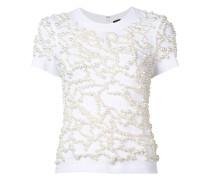 T-Shirt mit Perlen - women - Baumwolle/plastic