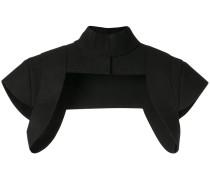 Cropped-Jacke mit Stehkragen