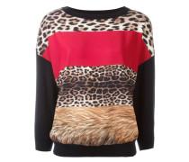 Sweatshirt mit unterschiedlichen Animal-Prints