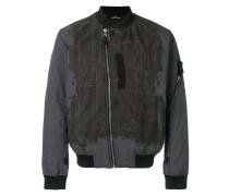 David-TC contrast panel bomber jacket