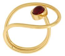 Vergoldeter 'Arco III' Ring mit Swarovski-Kristallen
