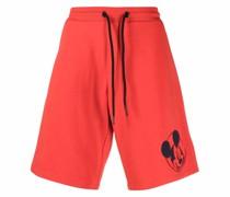 Shorts mit Micky-Maus-Stickerei