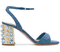 studded block heel sandals