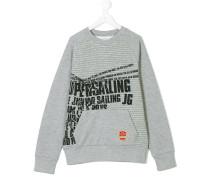 marl printed sweatshirt
