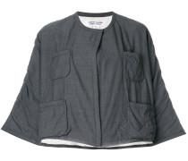 Cropped-Jacke mit Vordertaschen
