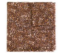 Wollschal mit Leoparden-Print