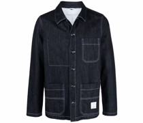 work denim shirt jacket